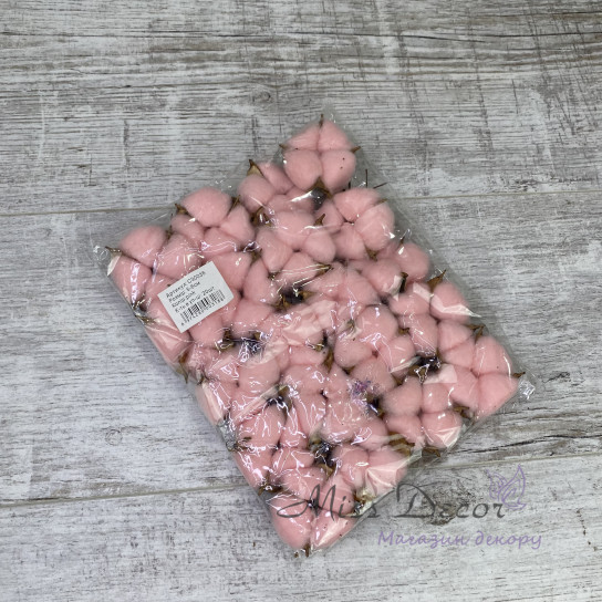 Хлопок нежно розовый 20 шт