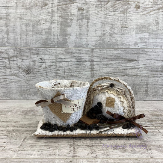 Кашпо + сумочка coffe