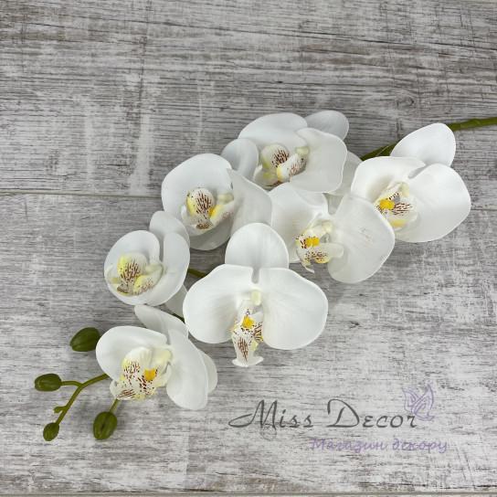 Ветка орхидеи гель белая K04070