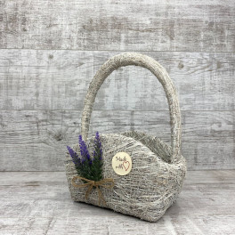 Корзина сумка + лаванда