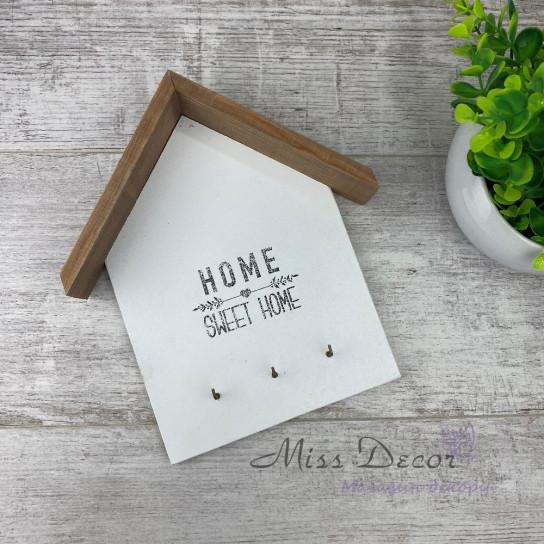 Ключница домик белый + кипарисс home sweetr home