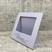 Кашпо рамка фиолетовая