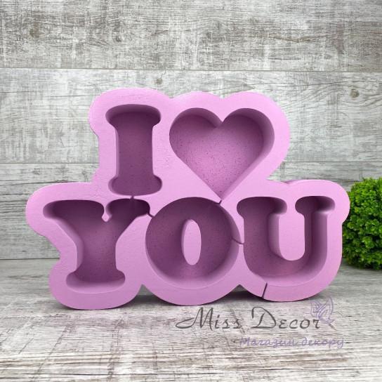 пенобокс I love you лиловый