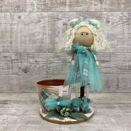 Интерьерная кукла в очках *рандомный выбор цвета