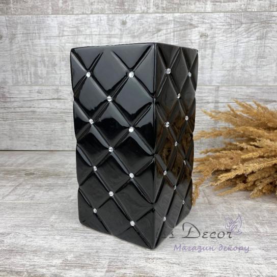 Керамика ваза черная гламур 02.683.26