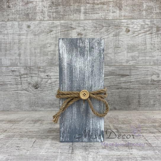Вазочка деревянная Прованс 25 см