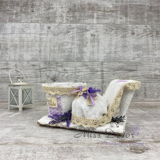 Кашпо + туфлелька lavender