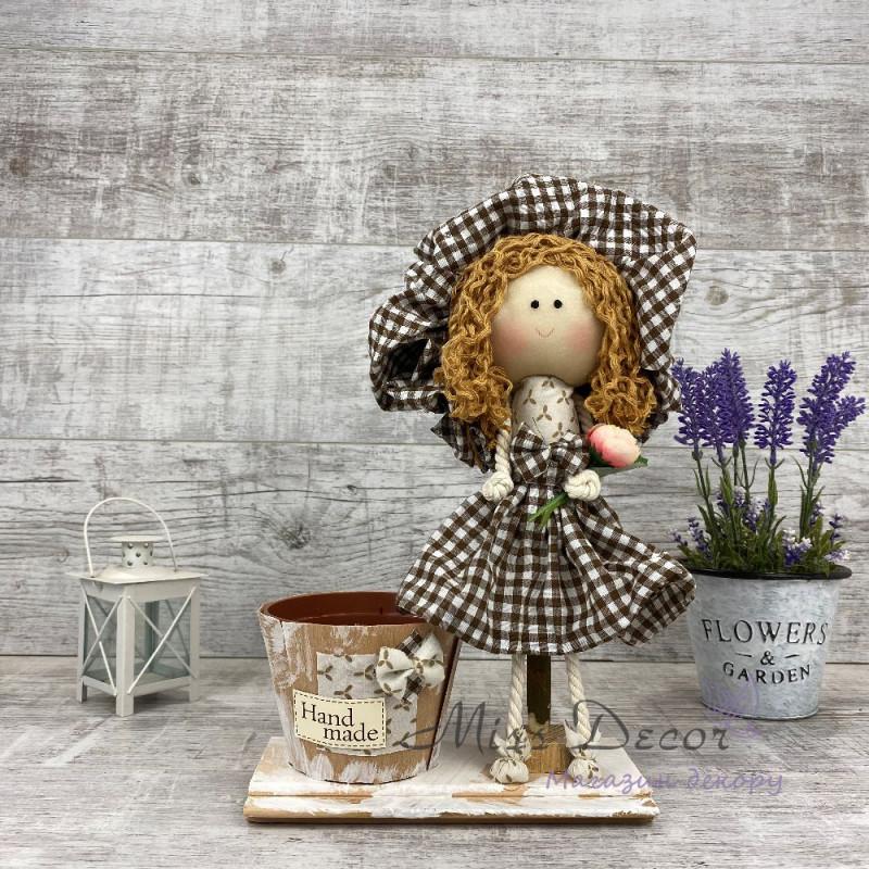Интерьерная кукла Дама в шляпе *рандомный выбор цвета