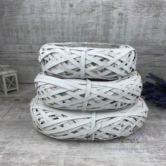 Кашпо плетеное овальное большое CR1957-35W