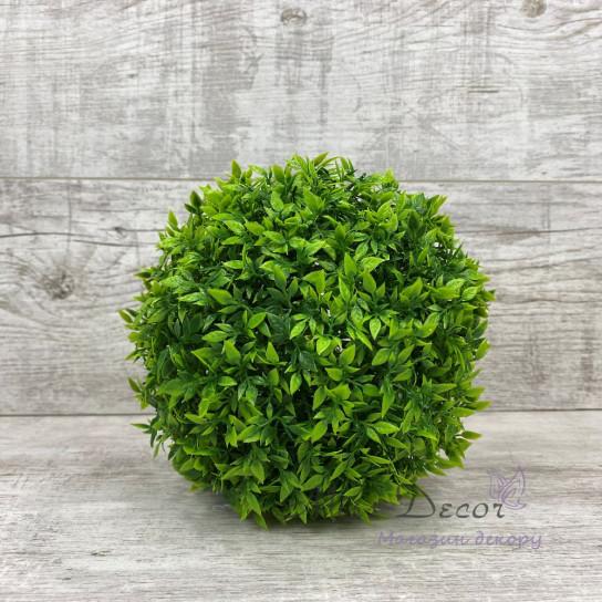Шар декоративный зеленый листик