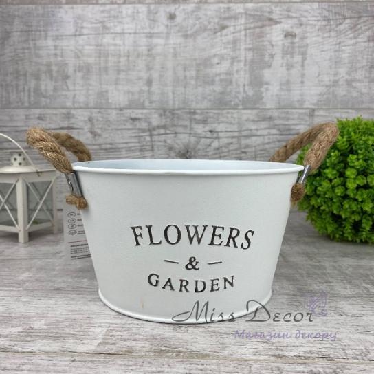 Кашпо круглое flowers&garden 132825