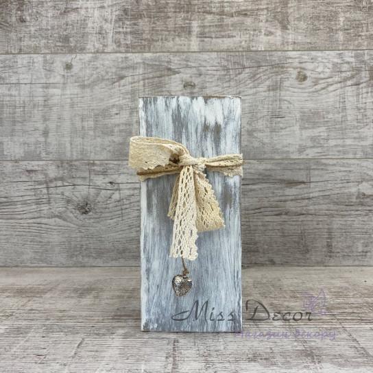 Вазочка деревянная 25 см