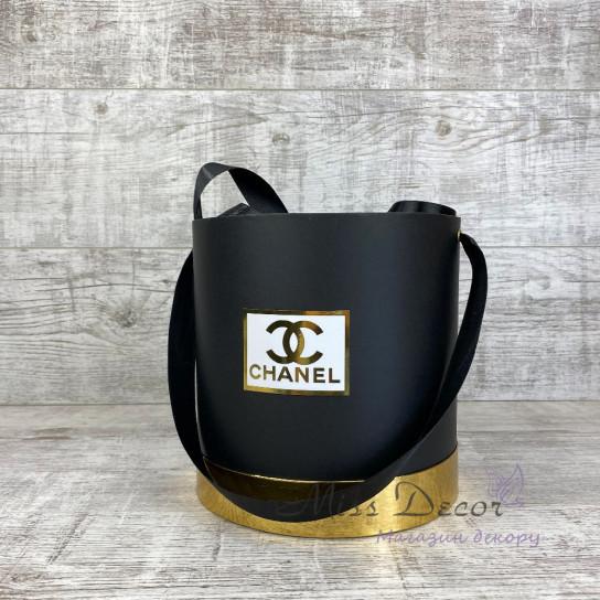 Набор шляпных коробок черные с золотом