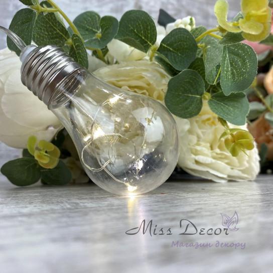 Гирлянда лампочки РОСА Теплый белый цвет, 10 шт