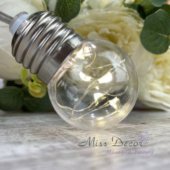 Гирлянда лампочки РОСА Теплый белый 10 шт SC-LED-3-50