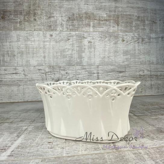 Керамика кашпо ажур малое LJ16SO101H