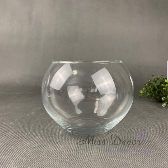 Стеклянная ваза шар 15 см