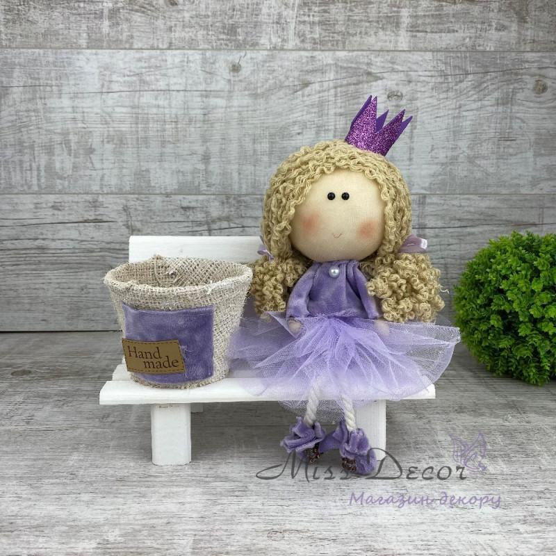 Интерьерная кукла принцесса на лавке *рандомный выбор цвета