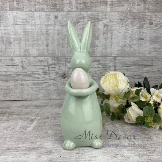 Керамика пасхальный кролик салатовый JOL181018W/P