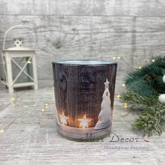 Свеча в стакане новогодняя