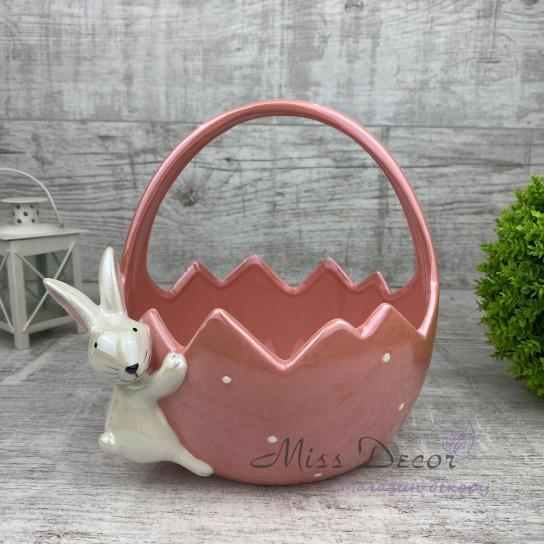 Керамика корзина большая розовая JY19B012GP/FP