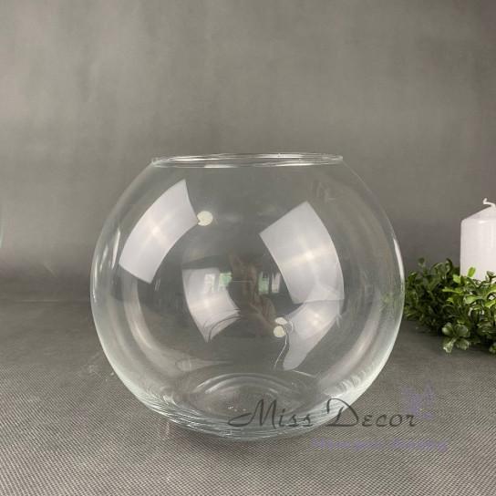 Стеклянная ваза шар 20 см