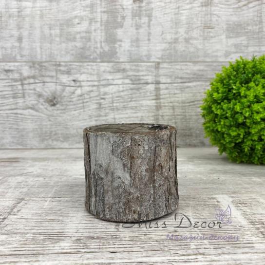 Кашпо пенек серый