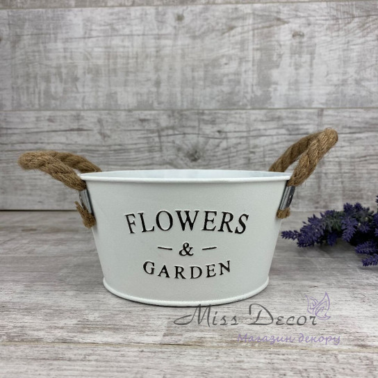 Кашпо круглое Flowers&Garden среднее132824
