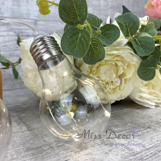 Гирлянда лампочки РОСА Теплый белый - большие 10 шт