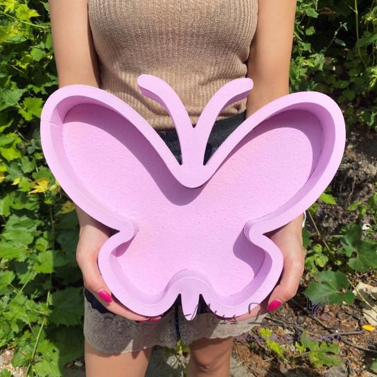 Пенобокс бабочка лиловый