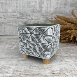 Керамика кашпо етно квадртное на ножках 05.147.13