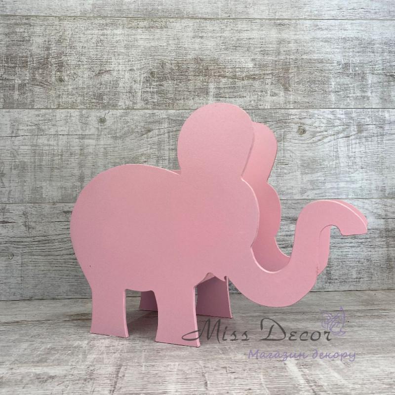 Кашпо слон розовый