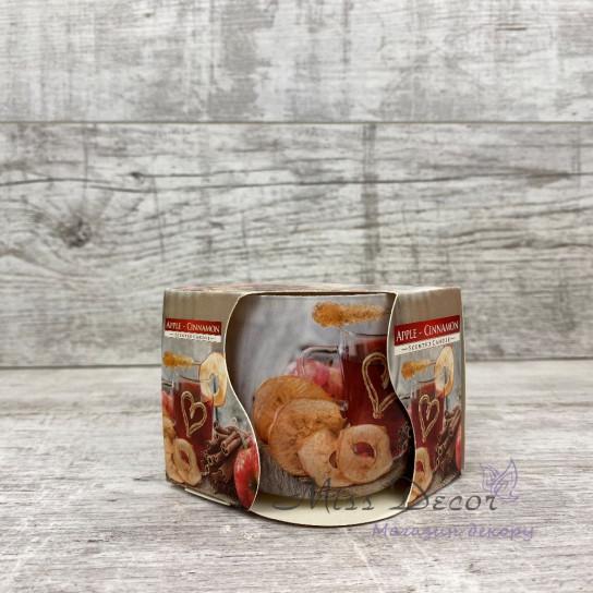 Арома свеча в стакане «корица-яблоко»