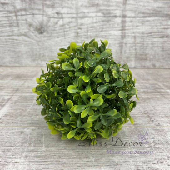 Шар зеленый самшит 5 см