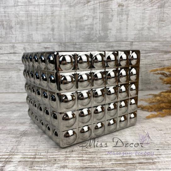 Кашпо керамика silver 02.56118