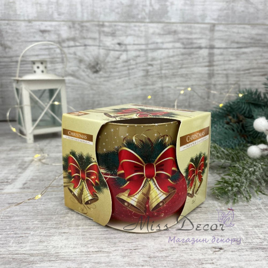 Арома свеча в стакане - Рождество