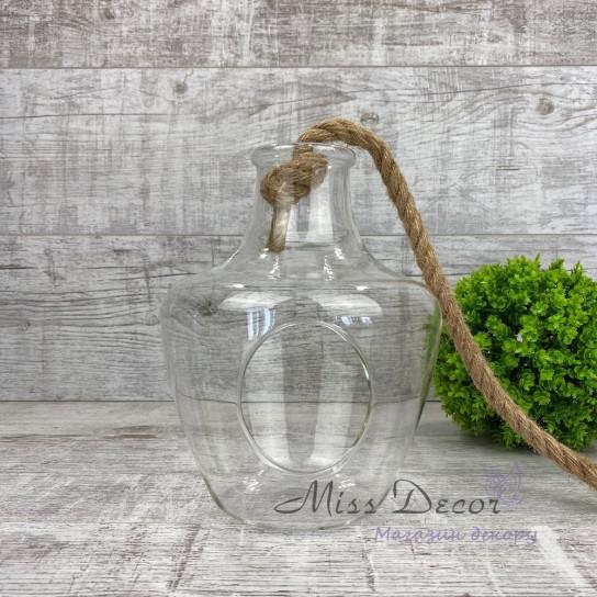Ваза для флорариума бутылка большая