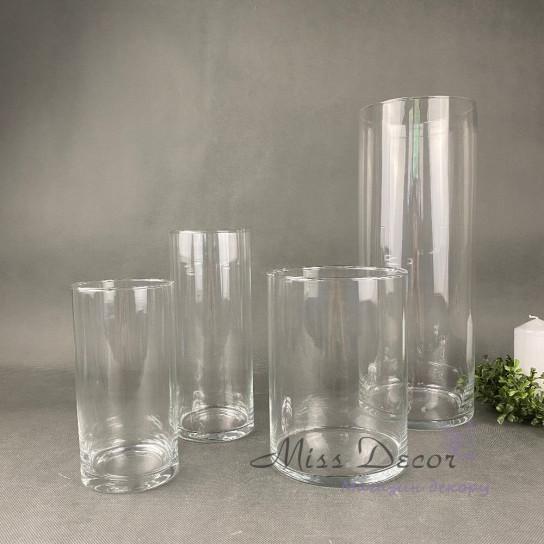Стеклянная ваза цилиндр 50 см
