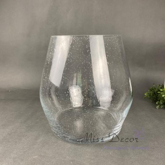 Стеклянная ваза эффект мокрого стекла