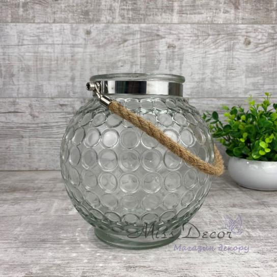 Стеклянная ваза подсвечник OKB2285-3M