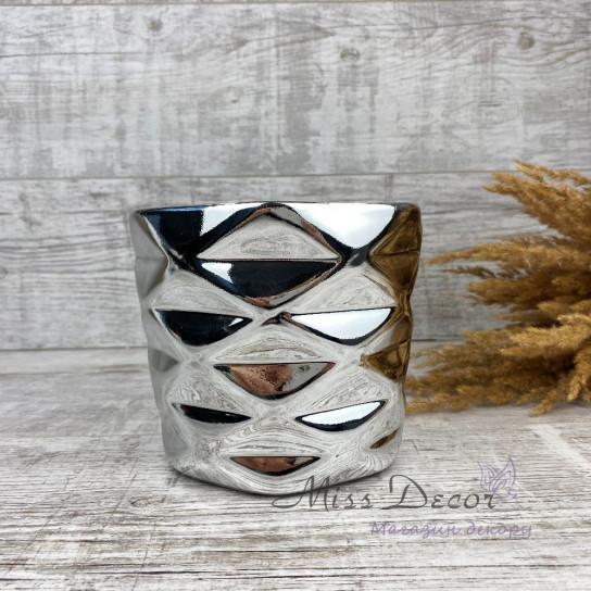 Керамика кашпо silver 02.627.15