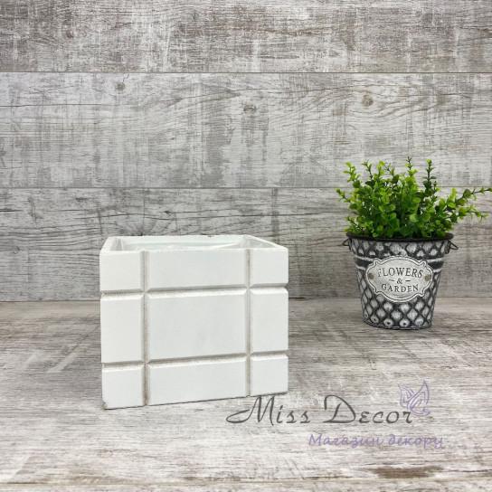 Деревянное кашпо кубики малое