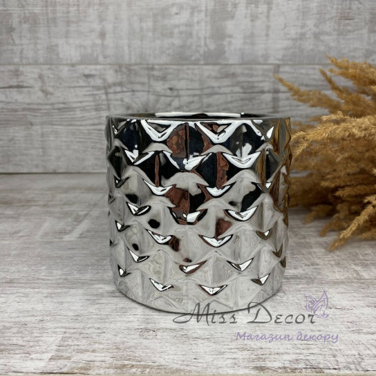 Керамика кашпо silver узоры 05.237.13