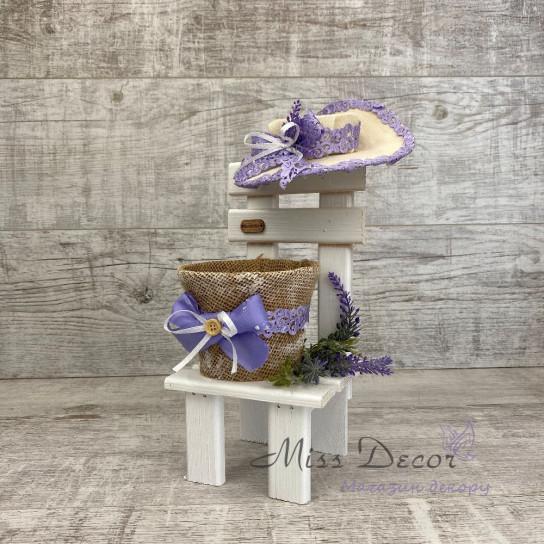 Стульчик кашпо lavender малый