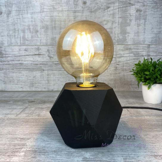 Светильник с ретро лампой черный