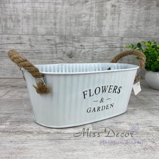 Кашпо Flowers&Garden овальное  138386
