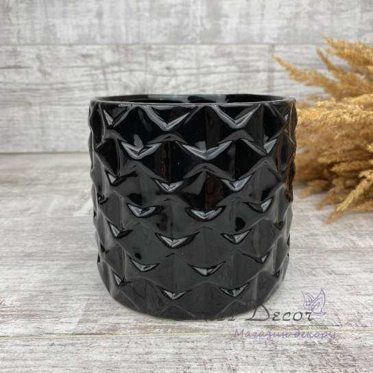 Керамика кашпо black узоры 05.236.13