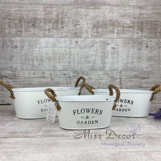 Кашпо Flowers&garden овальное малое 132819