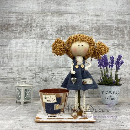 Интерьерная кукла в платье
