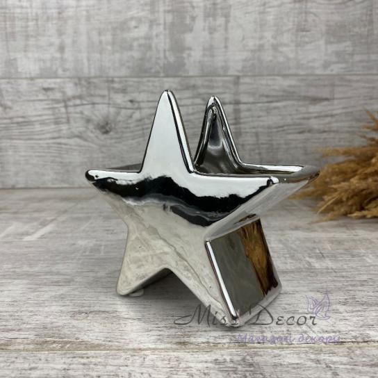 Керамика кашпо звезда silver 02.622.14